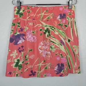 Old Navy coral print skirt size: M